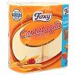 Rollo de papel de cocina recomendado para fritos con doble capa 2 uds Foxy