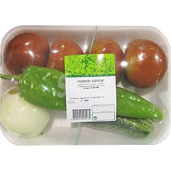 Surtido de verduras para gazpacho  Bandeja 1,2 kg peso aproximado