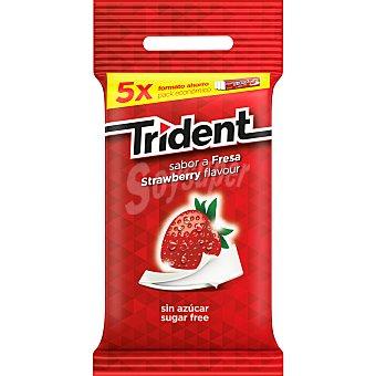 Trident Chicles de fresa stick sin azúcar Pack 5 envase 5 unidades