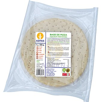 Adpan Bases de pizza sin gluten 4 unidades envase 600 g 4 unidades