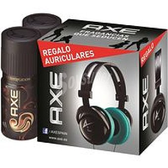 Axe Desodorante Dark Temptation Pack 2x150 ml + Auriculares