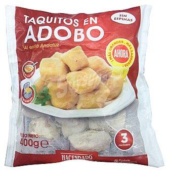 Hacendado Tintorera congelada a taquitos en adobo (estilo andaluz) Paquete 400 g