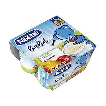 Nestlé Yogur bebé multifrutas pack 4 unidades 100 gr Pack 4 unidades 100 gr