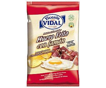 Vicente Vidal Patatas fritas con sabor huevos fritos con jamón 135 g