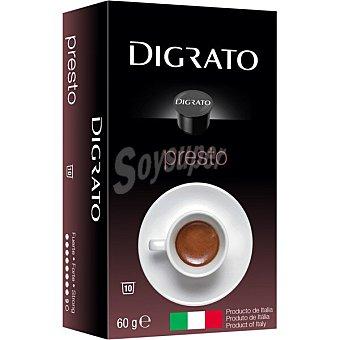 Digrato Presto café fuerte intensidad 9 10 cápsulas 10 c