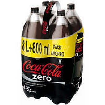 COCA COLA Zero Refresco de cola pack 4x2,2 litros