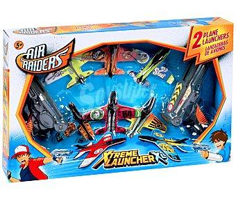 AIR RAIDERS Lanzadores de Aviones+6 Aviones, Superflyers Xtrem Launcher XL 1 Unidad