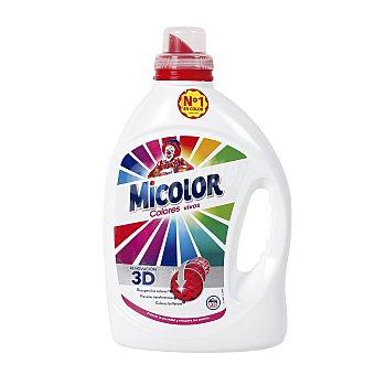 MICOLOR detergente máquina líquido gel colores puros botella 31 dosis 31 lavados