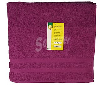 Productos Económicos Alcampo Toalla de ducha 100% algodón color morado, densidad de 360 gramos/m², 70x130 centímetros 1 unidad