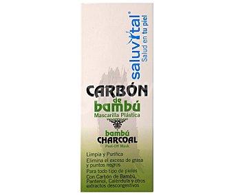 Saluvital Mascarilla facial purificante con carbón de bambú, para todo tipo de pieles 50 ml