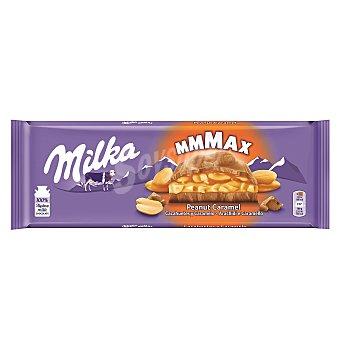 Milka Chocolate relleno con deliciosa crema de caramelo y trocitos de cacahuete Tableta 276 g