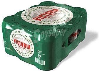 Victoria Cerveza rubia especial malagueña Pack 12 latas 33 cl Pack 12 latas de 33 cl