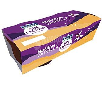 Kaiku Sin Lactosa Natillas con sabor a vainilla sin lactosa 2 x 125 g