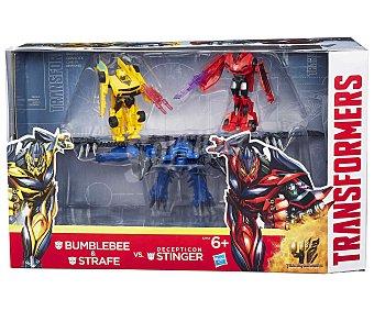 TRANSFORMERS Pack de 3 Figuras Artículadas; Bumblebee, Strafe y Stinger 1 Unidad
