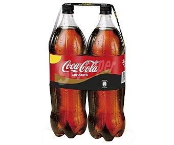 Coca-Cola Zero Coca cola Zero Cafeína sin calorías 2 botellas de 2 l