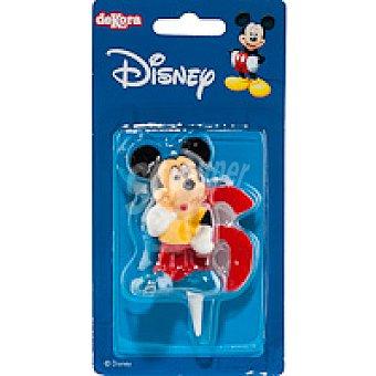 DEKORA Vela familia Disney Nº6 1 unidad
