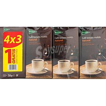 El Corte Inglés café natural +1 gratis pack ahorro 3 paquetes 250 g