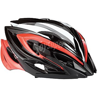 RUNFIT Inmold LED casco adulto en color negro y rojo
