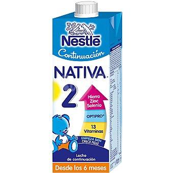 Nativa Nestlé Leche de continuación 2 desde los 6 meses Envase 1 l