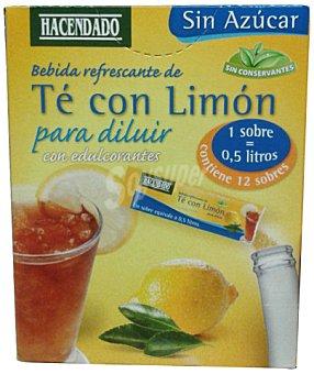 Hacendado Te con limon instantaneo con edulcorante 12 sobres - 36 g