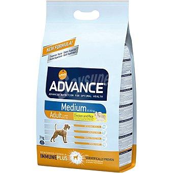 Advance Affinity Medium adult pienso de alta gama para perros adultos de raza mediana bolsa 3 kg rico en pollo y arroz Bolsa 3 kg