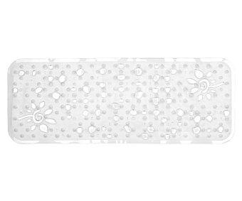 Toyma Alfombra antideslizante para ducha modelo Gotas, color blanco traslúcido, 95x36 centímetros 1 unidad