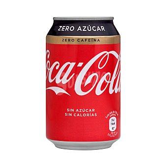 Coca-Cola Zero Zero Refresco de cola sin cafeína zero azúcares Lata de 33 cl