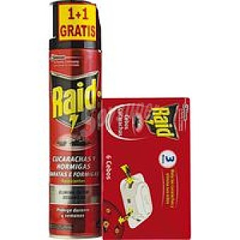 Raid Cebo cucharadas-aerosol pack 6 unid