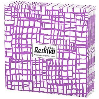 Renova Servilletas Black Label abstracta morada paquete 12 unidades Paquete 12 unidades