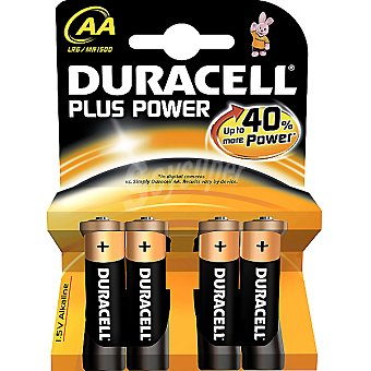 Duracell LR6 AA pilas alcalinas Plus Power blister 4 unidades 4 unidades
