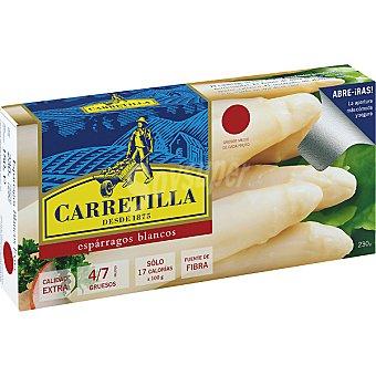 Carretilla Espárragos blancos extra 4-7 piezas Lata 150 g neto escurrido