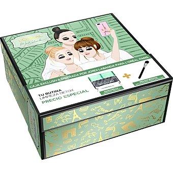 L'Oréal cofre de Navidad limpieza Detox con mascarilla de arcillas puras + brocha de regalo caja 1