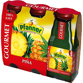PFANNER GOURMET Zumo de piña Pack 3 envase 200 ml