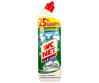WC Net Gel limpiador WC aroma verde eucalipto 750 ml