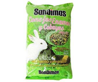 San Dimas Alimento completo para conejos y cobayas 2 Kilogramos