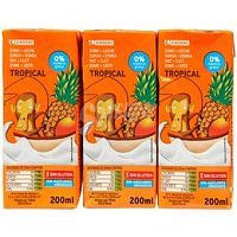 Eroski Lactozumo tropical Pack 6x200 ml