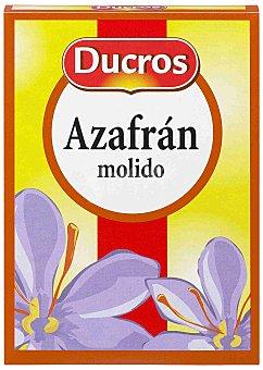 Ducros Azafrán natural molido 4 sobres de 0,125 g