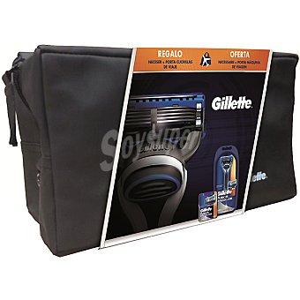 Gillette Pack con maquinilla manual + 2 recambios + porta...