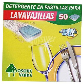 Bosque Verde Detergente lavavajillas pastillas Caja 50 u