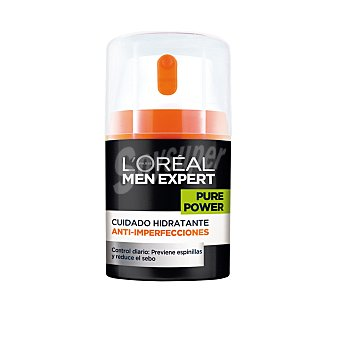 Men Expert L'Oréal Paris Crema Hidratante Anti-Imperfecciones Pure Power Men Expert 50 ml