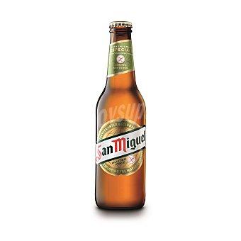 San Miguel Cerveza especial SIN gluten Botella 33 cl