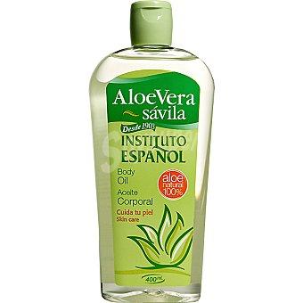 Instituto Español Aceite corporal de aloe vera Frasco 400 ml
