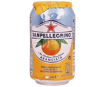 San Pellegrino Nestlé Agua con gas sabor naranja Lata de 33 cl