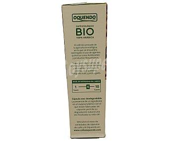 Oquendo Café monodosis de agricultura ecológica 100% arábica 10 unidades
