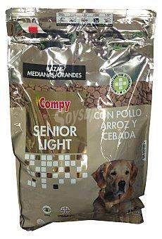 Compy Comida perro senior light croqueta pollo arroz Paquete de 4 kg