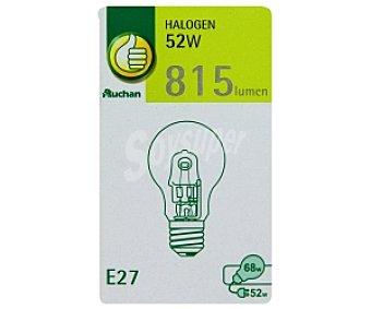 Productos Económicos Alcampo Bombilla halógena esférica 52W, con casquillo E27 (grueso) y luz cálida 1 unidad