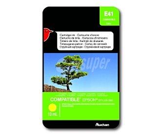 Auchan Cartucho Amarillo TO61440 (E 41) - Compatible con impresoras: epson Stylus D68 / D68PE / D88 / D88PE / DX3800 / DX3850 / DX4200 / DX4250 / DX4800 / DX4850