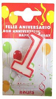Roura Vela cumpleaños Nº 1 1 unidad