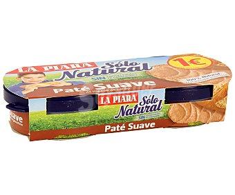 La Piara Paté suave Sólo Natural Pack 2 latas 75 g
