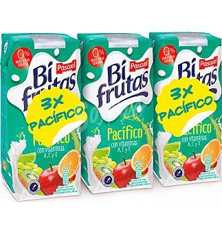 Bifrutas de Pascual Zumo de frutas con leche y vitaminas Pacífico 3x330ml